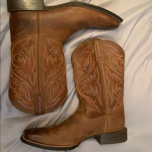 Ariat herdsman leather cowboy boots, Size : 11D